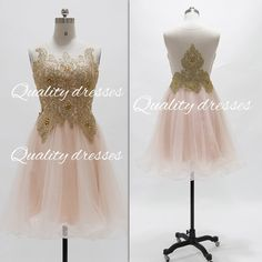 Amazing pink tulle handmade short gown prom dress bridesmaid homecoming dress
