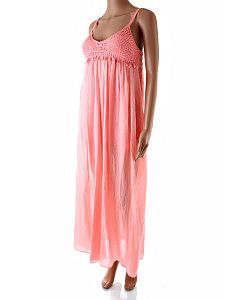 91b7e8dd1fa6 Dlhé ružové letné šaty Italia Moda Dlhé voľné ružové letné šaty s krátkou  spodničkou. Šaty