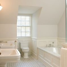 Wall Moulding Panels Design Ideas, Pictures, Remodel, and Decor - page 11 paneling in bathroom
