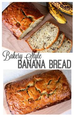 Bakery Style Banana Bread Don't let those overripe bananas go to waste! This copy cat Bob Evan's banana bread recipe rivals any from a local bakery. Soft, delicious, and sticky on the top. This recipe yields 2 loaves of delicious banana bread. Bob Evans Banana Bread Recipe, Perfect Banana Bread Recipe, Banana Nut Bread Easy, Homemade Banana Bread, 2 Bananas Banana Bread, Homemade Breads, Easy Bread Recipes, Banana Bread Recipes, Banana Bread Recipe For 2 Loaves