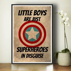 Superhero Kids Poster - Marvel Comics - Gift For Boys - Kids Art Print - Superhero Art Print - Bedroom Decor - Captain America - Superheroes... - Visit to grab an amazing super hero shirt now on sale!