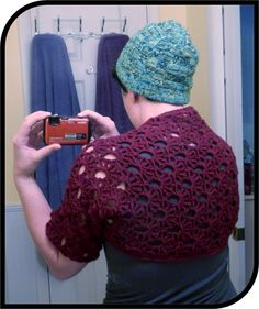 Super Easy Crochet Shrug - Only took a couple hours!