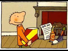 prenten: de mijter van jules - New Ideas Saint Nicholas, Winter Wonder, Bedtime Stories, Bart Simpson, Childrens Books, Art For Kids, Youtube, Snoopy, School