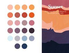 Sunset Color Palette, Warm Colour Palette, Sunset Colors, Warm Colors, August Colors, Desert Colors, Theme Color, Colour Schemes, Color Trends