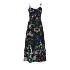 b998a6ea038 Mr.Macy Bohemian Dress Womens Floral Print Sling Long Dress Sleeveless Summer  Beach Dress S