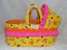 Unique Easter Basket Idea Colorful Doll Bed Moses by thatssewholly