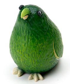 Look at this #zulilyfind! Avocado Parrot Figurine by Home Grown #zulilyfinds