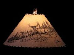 Shadow mountain rustic wildlife lamp shade the scene is not pricing for lamp shades aloadofball Gallery