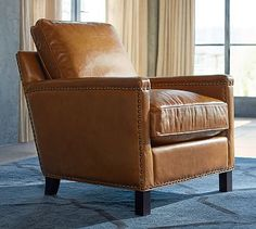 Tyler Leather Armchair #potterybarn Available in gray or red leather