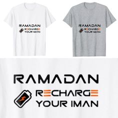039a483e1 Funny Ramadan Recharge Your Iman Muslim Holiday Islamic T-Shirt Apparel | Unisex  T-Shirt
