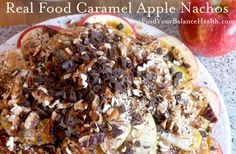 Halloween Caramel Apple Nachos