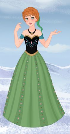 I managed to find a picture of Anna's coronation dress! This is pretty close, and I'm really proud of it.