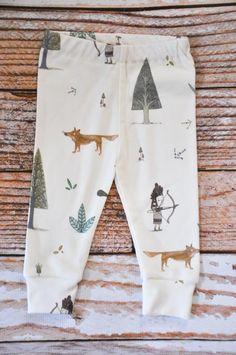 Jambières bébé bio Pantalons bébé bébé leggins par holdyoume, $28.00