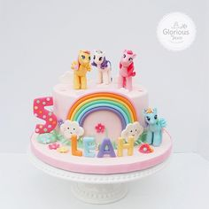 My Little Pony rainbow cake by My Glorious Treats - For all your cake decorating supplies, please visit craftcompany.co.uk