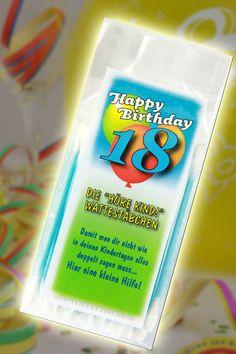 Höre Kind Wattestäbchen zum 18 Geburtstag