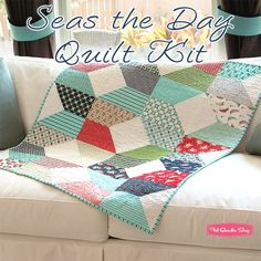 Seas the Day Quilt KitFeaturing Daysail by Bonnie & Camille - Daysail - Moda Fabrics | Fat Quarter Shop