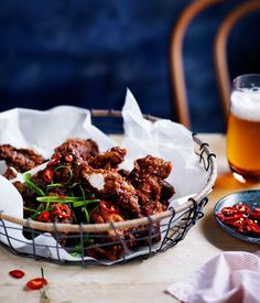 Salt-and-pepper chicken spare ribs with tamarind hot sauce recipe, Gingerboy, Melbourne :: Gourmet Traveller