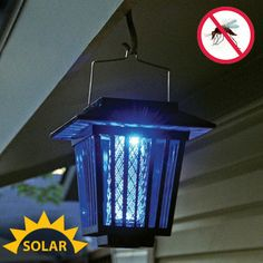 Solar Pest Zapper  $34.95  Enjoy A Mosquito Free Yard With A Solar Powered Bug  Zapper Attracted By This Lanternu0027s Super Bright LEDs, Mosquitoes Are  Quickly ...