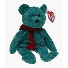 Ty Beanie Baby- Wallace the Bear with Scarf