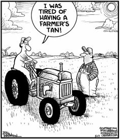 Had to laugh because as a kid I took off my shirt to get rid of the farmers tan and lost my shirt somewhere in the field.  Oops.