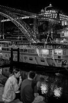 Porto's Ribeira By Night, Take 3 Sydney Harbour Bridge, Portugal, Night, Summer, Photography, Travel, Porto, Count, Lugares
