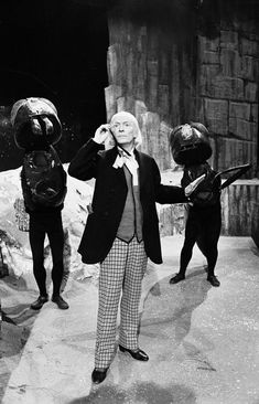 William Hartnell as the First Doctor - During rehearsals at Television Centre, 1965
