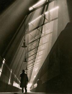 """Une vue de la gare historique """"La Salle"""" de Chicago (Novembre 1936)"""
