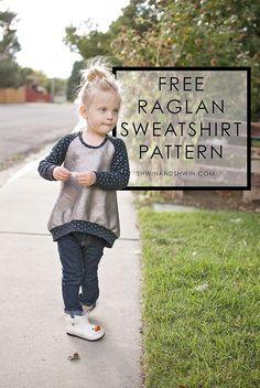 Free raglan sweatshirt pattern || Shwin&Shwin