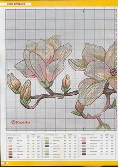 magnolia chart 1 Gallery.ru / Фото #4 - цветики - Ritusya