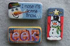 Magnet or Pin pattern. Paint on Dominoes. Just Fine Designs Painting Patterns by Sandy LeFlore