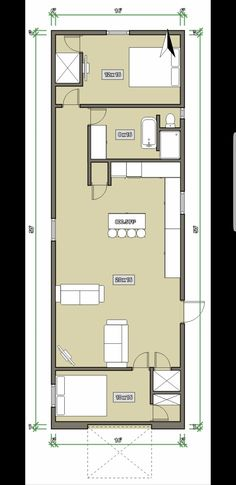9 Best plans 16x50 images in 2018 | Tiny houses, House floor plans