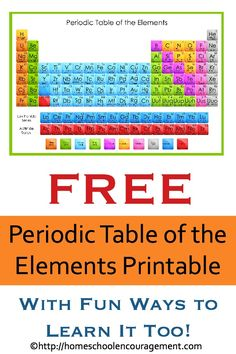 Learn the periodic table of elements with this handy song periodic wk 13 periodic table of the elements for chemistry students of all ages fun resources to learn about the periodic table and a free printable table urtaz