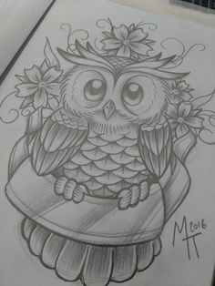 Lots of owls to draw cookies crazy drinking family going Owl Tattoo Drawings, Pencil Art Drawings, Art Drawings Sketches, Love Drawings, Animal Drawings, Owl Sketch, Owl Tattoo Design, Owl Art, Pictures To Draw