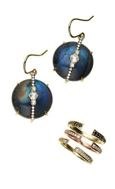 I love these Jemma Wynne earrings and stackable rings!