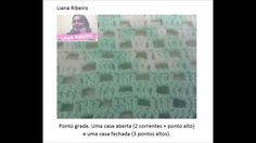 Manta de crochê #crochet #crochetfilet