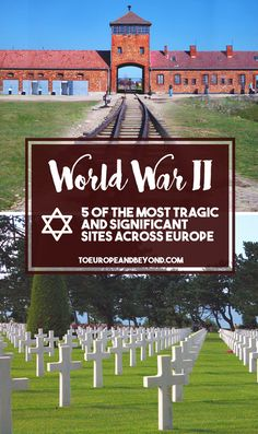 There simply is no better way to fully grasp the extent and depth of the great wars than to set foot in the actual places they so appallingly came about. Here are five noteworthy World War II Sites in Europe that you must visit once in your life. To remember and honour the victims, and to further awareness of such hateful crimes #travel #WorldWarII