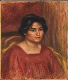 Pierre-Auguste Renoir, Gabrielle in a Red Dress, 1908, Harvard Art Museums/Fogg Museum.