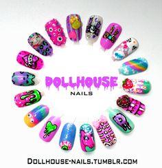 Creepy & Cute Nail Wheel!!! My Little Pony, Gunge, Eye Balls, Hello Kitty and Rainbows