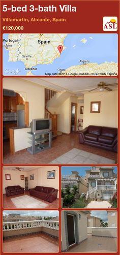 5-bed 3-bath Villa in Villamartin, Alicante, Spain ►€120,000 #PropertyForSaleInSpain