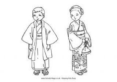 Japan Colouring Pages