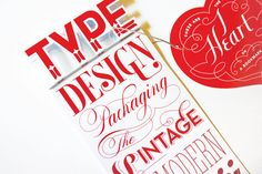 Self-promo bookmark with #vintage #typography by #CamilaDrozd