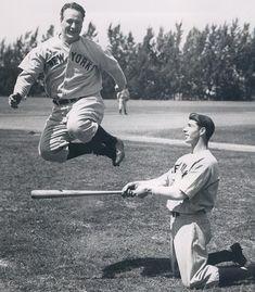Lou Gehrig and Joe Dimaggio