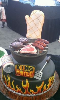 Best CAKE ever!!!! Minus the beer can. #contest