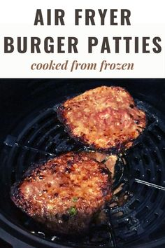 Air Fryer Frozen Burgers! Skip the drive-thru and use an air fryer or Ninja Foodi to cook juicy and flavorful burgers from frozen hamburger patties quickly and evenly every time -great for busy weeknights.