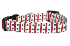 Red White and Blue Vintage Dog Collar by ALeashACollar on Etsy Handmade Dog Collars, Handmade Gifts, Vintage Dog, Red And White, Personalized Items, Trending Outfits, Unique Jewelry, Dogs, Blue