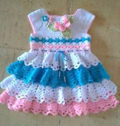 This Pin was discovered by PhyOne of the most popular categories where you can find a lot of free baby crochet patterns.Crochet Cotton Baby Dress Hat pink and white by GoingCrafty, Crochet Dress Girl, Crochet Baby Dress Pattern, Baby Girl Crochet, Crochet Baby Clothes, Baby Knitting Patterns, Baby Patterns, Crochet Patterns, Crochet Princess, Crochet Bedspread