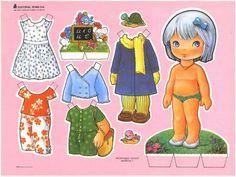 Muñecas de papel para vestir con mucha ropa - Imagui