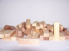 Wood Blocks Craft Supply 10 Quantity Lot by SheCollectsICreate