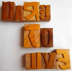 Nicely Hand Craft Letterpress Dare To Live Wood Type Printers Block typography