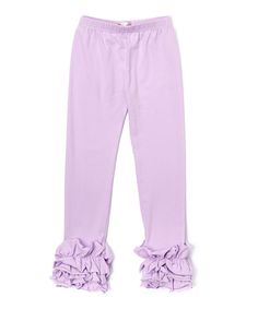 Lavender Ruffle Leggings - Infant Kids & Tween
